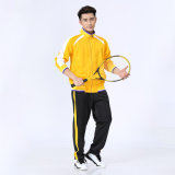 Custom Gym Mens Polyester Silk Leather Tracksuit