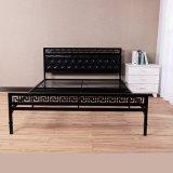 Home Use High Backrest Simple Easy Folding Metal Frame Bed
