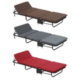 Outdoor Sleeping Iron Frame Office Furniture Folding Bed with Mattress