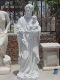 White Marble Church Sculpture Landscape/Garden/Villa Decoration Human/Animal/Hindu/Religious Life/Size Stone Statue