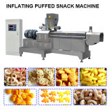 Automatic Corn Flakes Kurkure Puff Extruded Rice Wheat Flour Fried Snack Food Bugles Ball Puff Pillow Stick Chips Making Machine