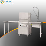 Commercial Stainless Steel Hood Type Dishwasher for Sale with Tunnel Type for Choice
