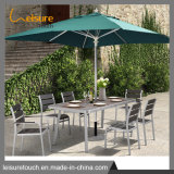 Outdoor Patio Poly Wood Aluminum Dining Table and Chair Set Garden Furniture