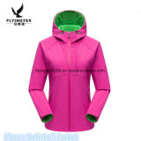 Women Softshell Jacket Waterproof Hooded Spring Autumn Thermal Fleece