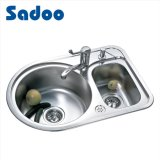 Double Bowl Kitchen Sink with Faucet & Soap Dispenser SD-938
