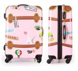 2018 Vintage ABS Print Luggage (HTAP-549)
