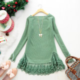 Lady Fashion Acrylic Knitted Lovely Short Lace Dress (YKY2016)