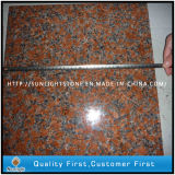 Natural Polished G562 Maple Red Granite Stone Floor Tiles