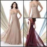 Champange Prom Formal Gown Burgundy Mother of The Bride Evening Dress E3988