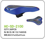 Blue and Black Leather MTB Saddle (SD-2100)