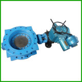 Electric Actuated Metal Sealed Flange Butterfly Valve