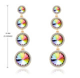 Fashion Color Diamond String Grow Exaggeration Earring