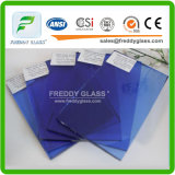 Building Glass of 8mm Dark Blue Tinted Float Glass