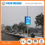 Full Color Outdoor Advertising Lamp Post Video LED Screen
