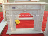 Hot Sale Fashion Design Marble Fireplace Surround Flowers (SY-MF138)