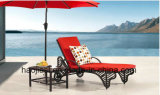 Outdoor /Rattan / Garden / Patio Furniture Rattan Lounge Chair & Side Table Set (HS 1017CL& 3022ET)