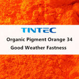Organic Pigment Orange 34 for All Paint with Very Good Weather Fastness