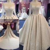 Katywell Ladies Muslim Spray Gold Ball Gown Wedding Dress