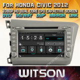 Witson Windows Radio Stereo DVD Player for Honda Civic 2012 for Left Hand Driver