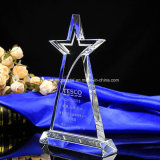 Wholesale Acrylic Crystal Trophy with Five Star