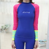 Fashion Rash Guards Wholesale Wetsuit Shirt Surf Clothes Custom Rash Guard Swimwear Shirt