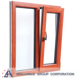 Wood Grain Finish Aluminum Tilt and Turn Window