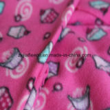Brush Fleece with Printing Designs