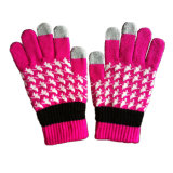 Custom Jacquard iPhone Touchscreen Knitted Glove (JRAC013)