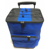 Outdoor Travelling Large Compartment Insulated Trolley Picnic Cooler Bag with Wheels