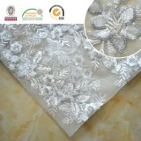 Hot-Sale New Design Embroidery Lace Fabric Shine+Sequin Flower 139