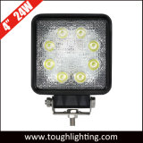 12V IP67 Waterproof 4inch Square 24W Epistar LED Work Lamp for Truck Tractors