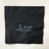 2 Ply Wholesale Great Logo Printed Black Beverage Napkins