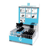 Fashion Acrylic Mobile Cell Phone Accessory Display Stand Rack with Price Holder and Advertising