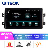 Witson Android 10 Car Audio Video for Suzuki 2006-2012 Sx4 4GB RAM 64GB Flash Big Screen in Car DVD Player