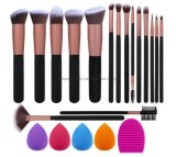 16PCS Makeup Brush Set Cosmetic Brush with Makeup Sponge and Brush Cleaner Makeup Brush