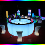 Rechargeable LED Straight Bar Table/ LED Bar Counter/LED Bar Furniture
