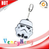 High Quality 3D Customized Cartoon Rubber Keychain for Promotion Gift
