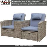Outdoor Garden Furniture Rattan Sofa Set with Ottomen
