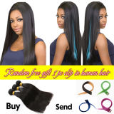 2015 Wholesale 100% Human Remy Double Drawn Brazilian Virgin Hair/Pervian Hair