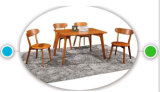 Fashionable Oak Wood Dining Table and Chairs for Cafe