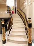 Indoor Curved Stainless Steel Rope Railing Staircase Staircase Professional Design