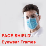 2020 Custom Protective Safety Face Shield Eyewear Frames Face Shield Eyeglasses Pet Plastic Antispray Face Shield and Eye Protection with Glasses Frame
