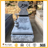 Customized Israel Style White/Black/Grey Granite/Marble Tombstone for Cemetery