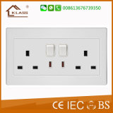 Household Double 13A Rocker Switches Sockets