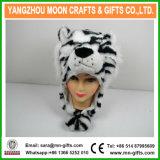 Plush Tiger Animal Fur Hat with Earflap