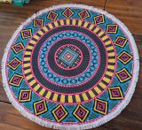 (BC-RT1001) High Quality 100% Cotton Round Beach Towel