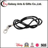 Custom Black Jacquard Round Rope Lanyard