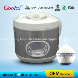 Silver Rice Cooker with Oval Control Panel