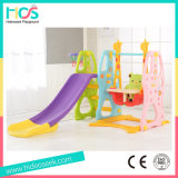 Popular Style Plastic Swing Set with Longer Slide (HBS17025B)