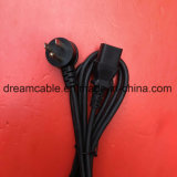 1.8m Black UL 3pin Power Cord with IEC C13